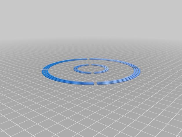 圆形校准器 3D打印模型渲染图