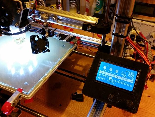 打印机控制器液晶显示器支架 3D打印模型渲染图