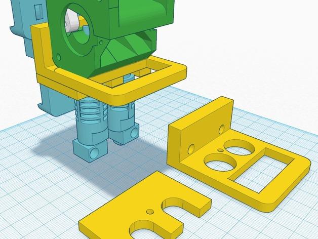 双挤出机适配器 3D打印模型渲染图