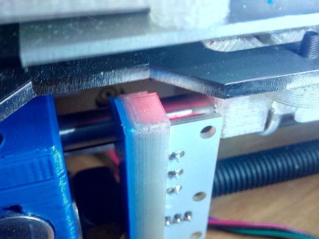 Prusa i3打印机Y轴限位开关支架 3D打印模型渲染图
