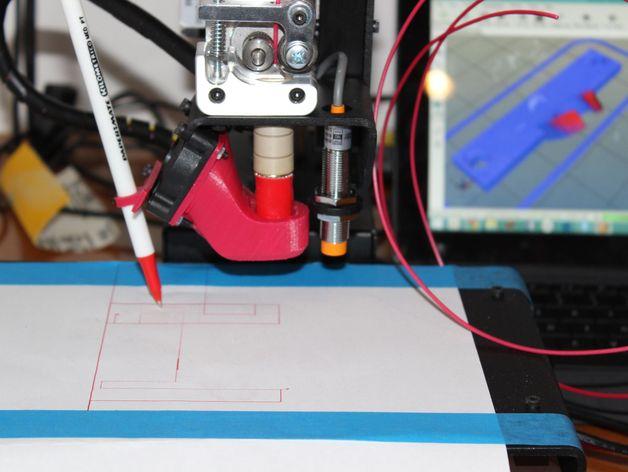3D打印笔支架 3D打印模型渲染图