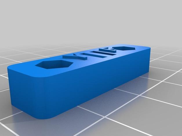 Printrbot Simple 打印机皮带张紧器 3D打印模型渲染图