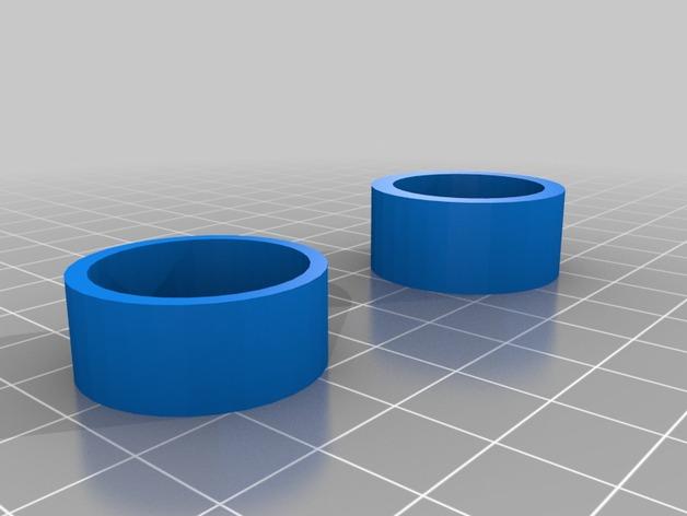 SJ4000相机镜头罩 3D打印模型渲染图