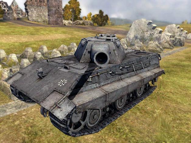 E50 重型坦克 3D打印模型渲染图
