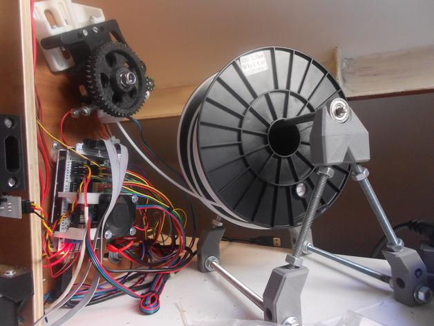 独立式线轴支架 3D打印模型渲染图