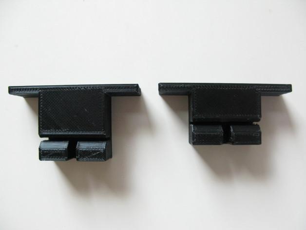Prusa i3打印机Y轴皮带固定器 3D打印模型渲染图