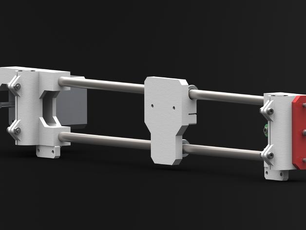 i3打印机X轴皮带固定器