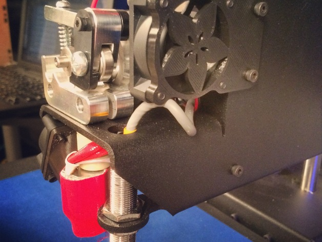 Printrbot Metal打印机挤出机风扇罩 3D打印模型渲染图