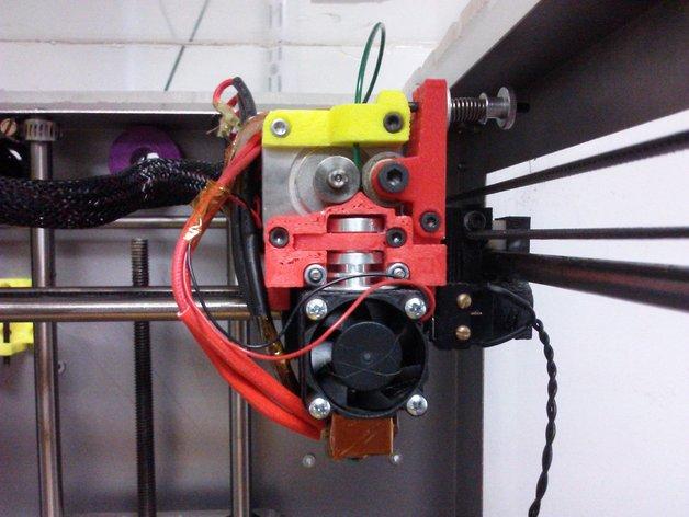 挤出机固定器 3D打印模型渲染图