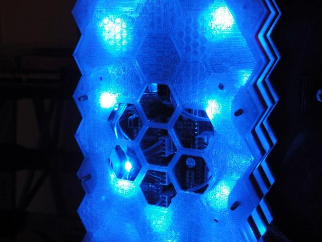 蜂巢式电路板保护罩 3D打印模型渲染图