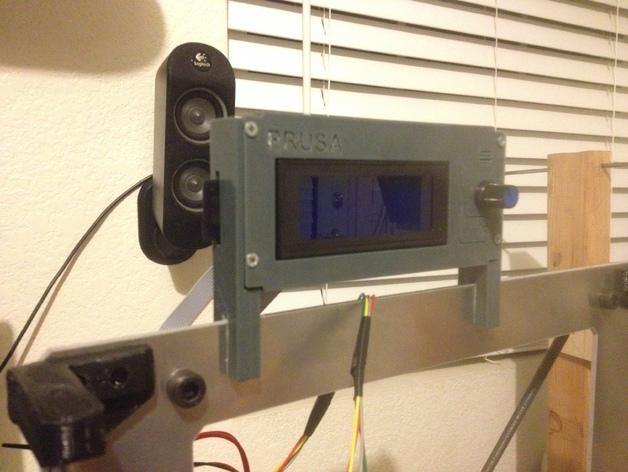 液晶显示屏保护罩和支架 3D打印模型渲染图
