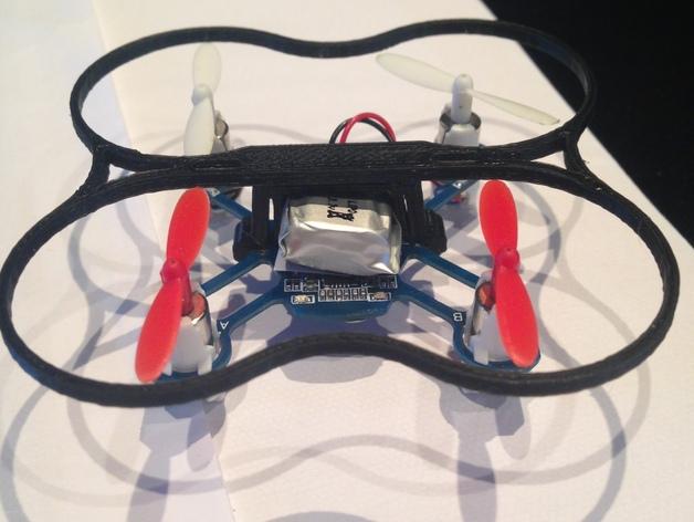 Hubsan / Proto x Q4四轴飞行器电池夹 3D打印模型渲染图