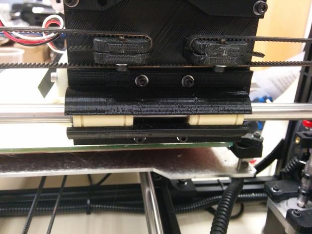 线性轴承支架 3D打印模型渲染图