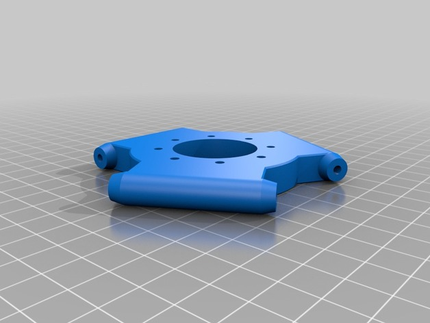 Delta 式打印机效应器 3D打印模型渲染图