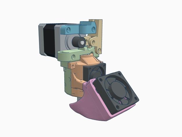 E3D挤出机 3D打印模型渲染图