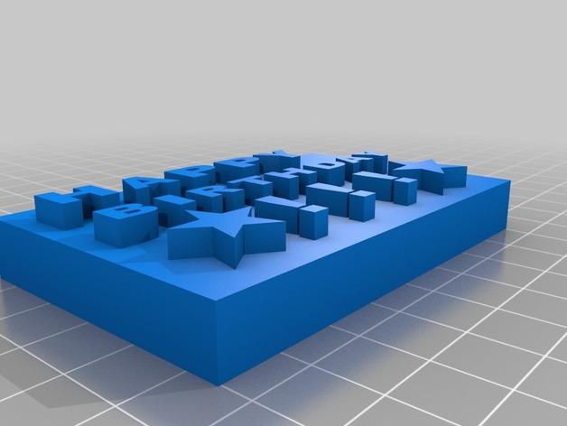 生日卡片 3D打印模型渲染图
