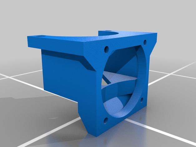 挤出机LED灯环固定架 风扇架 3D打印模型渲染图