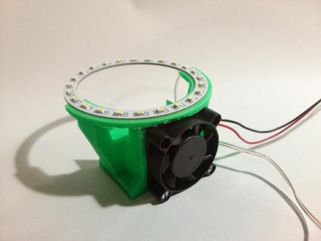 挤出机LED灯环固定架 风扇架