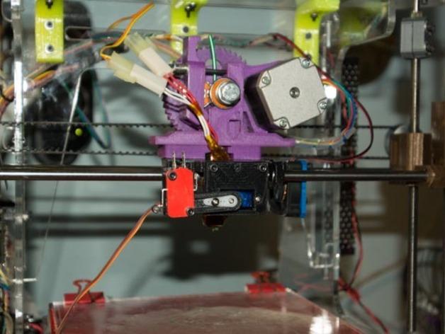 打印机X轴自动调平器支架 3D打印模型渲染图