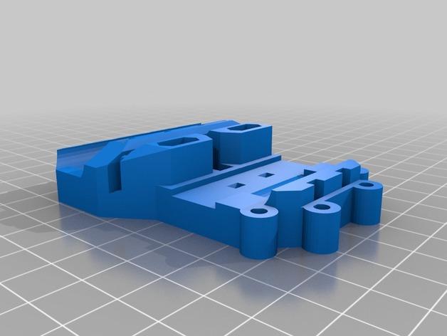 Prusa i3打印机X轴部件 3D打印模型渲染图