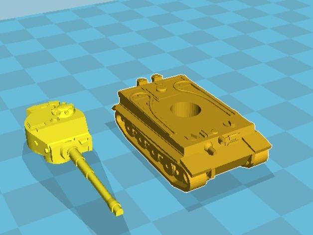 虎式坦克 3D打印模型渲染图