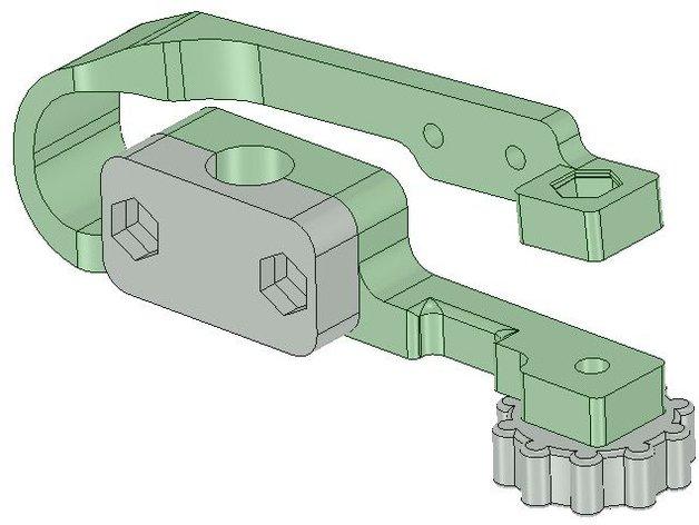 MendelMax 打印机Z轴限位开关 3D打印模型渲染图