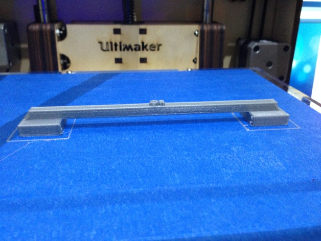 100毫米的桥梁 打印测试 3D打印模型渲染图
