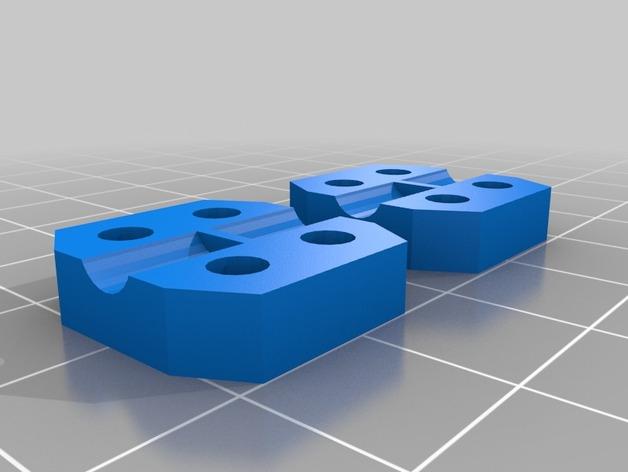 马达耦合器 3D打印模型渲染图