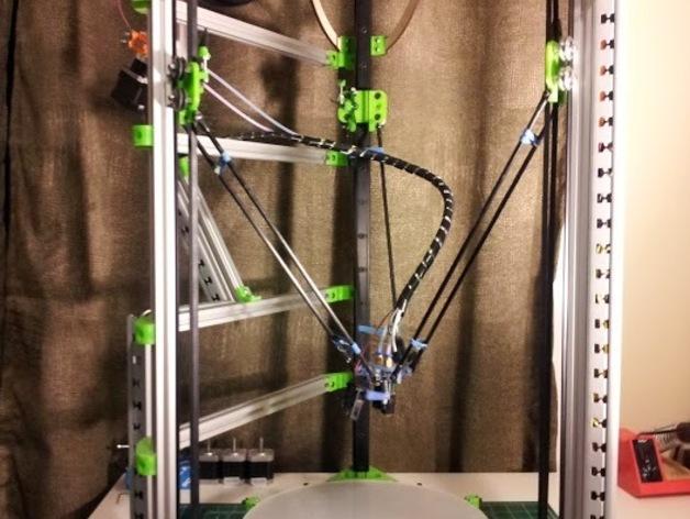 Delta 式3D打印机 3D打印模型渲染图