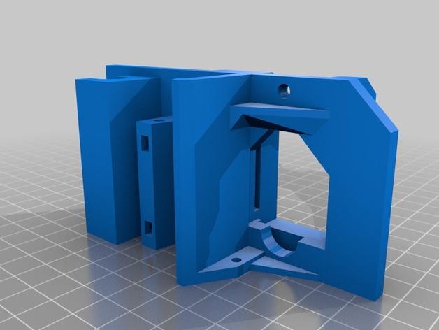 Bulldog金属挤出机线性轴承固定器 3D打印模型渲染图