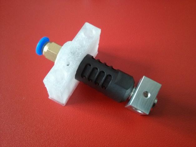 J-Head式喷头适配器 支架 3D打印模型渲染图