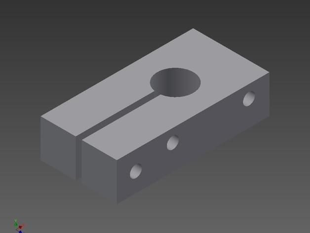 OneUp/TwoUp打印机Z轴限位开关支架 3D打印模型渲染图