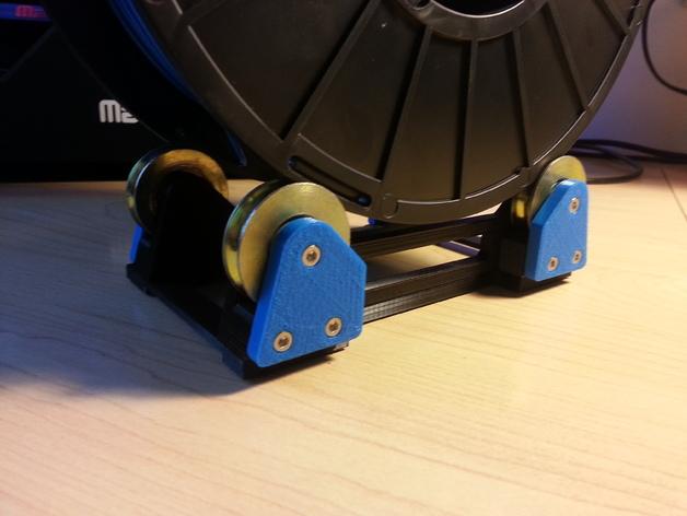 可调整的线轴支架 3D打印模型渲染图
