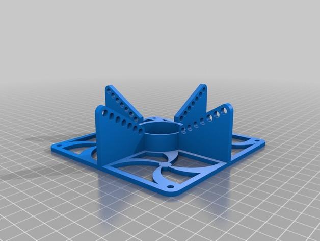 特斯拉线圈  3D打印模型渲染图