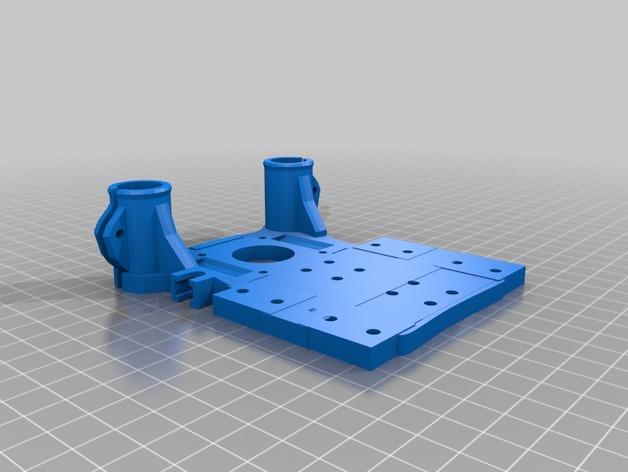 轴承安装板  3D打印模型渲染图