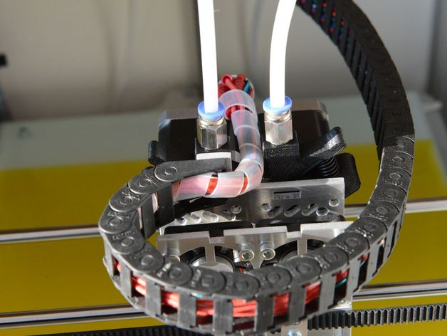 弹簧加压式挤出机 3D打印模型渲染图