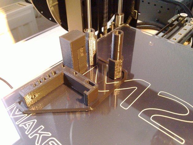 MakerGear M2打印机Z轴螺丝起子和埋头螺母转子