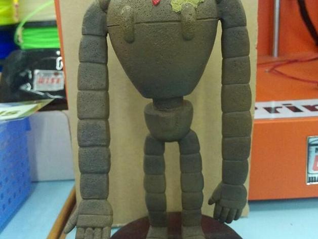 拉普达机器人 3D打印模型渲染图