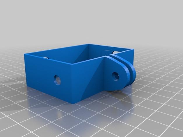 GoPro Hero3相机支架 3D打印模型渲染图