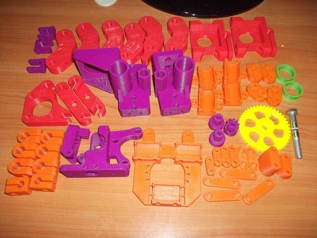Prusa i2打印机轴承套件 3D打印模型渲染图