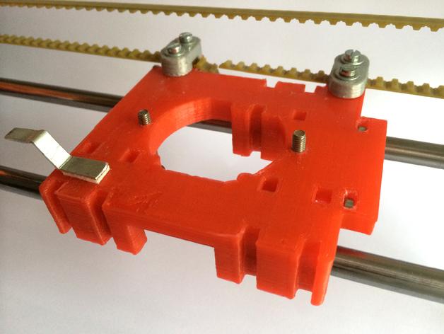 皮带固定器 挤出机支架  3D打印模型渲染图
