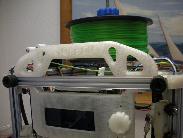 Mini Kossel打印机的线轴支架 3D打印模型渲染图