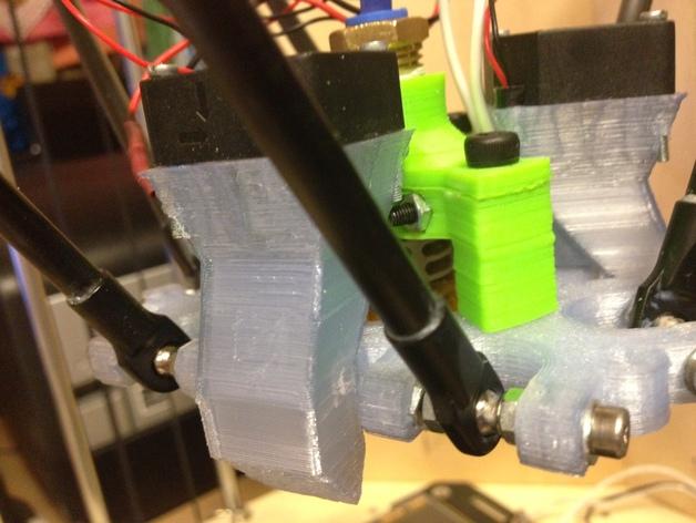 Rostock打印机风扇导管 3D打印模型渲染图