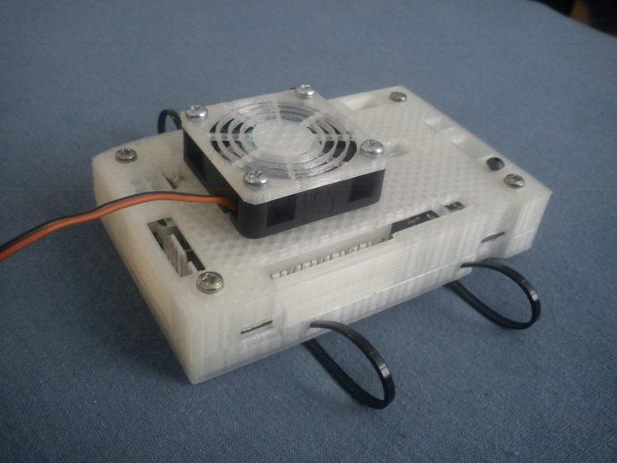 电路板风扇外盒 3D打印模型渲染图
