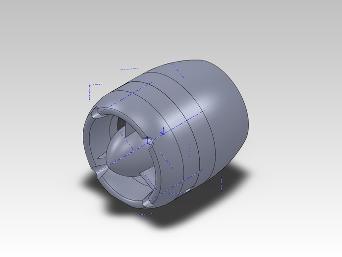 风扇罩 风扇盒 3D打印模型渲染图