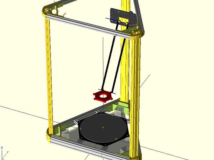 delta式打印机 3D打印模型渲染图