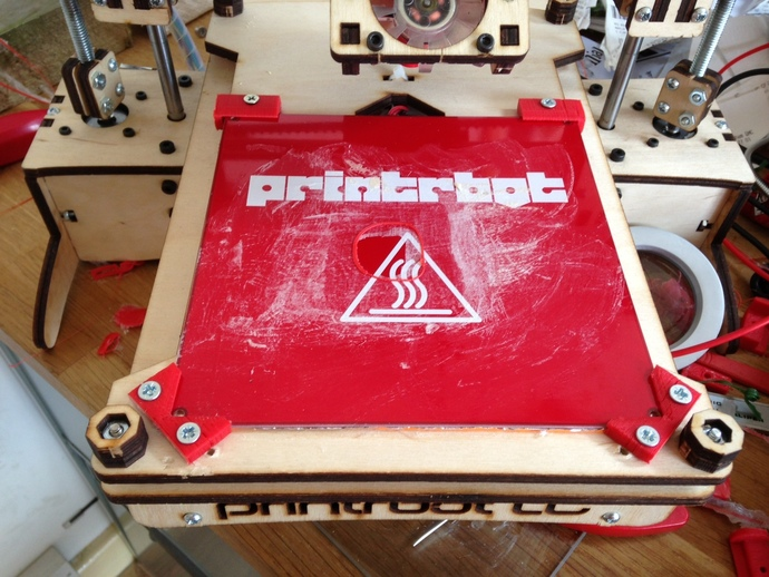 Printrbot打印机的玻璃板固定夹 3D打印模型渲染图