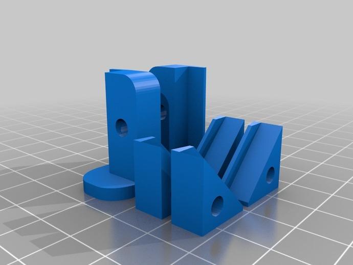 Printrbot打印机的玻璃板固定夹