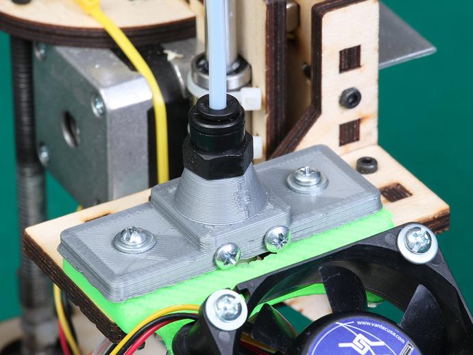 鲍登挤出机送料管 线材固定器 3D打印模型渲染图