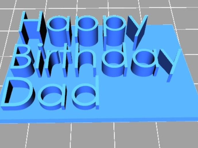 Happy Birthday Dad字母板